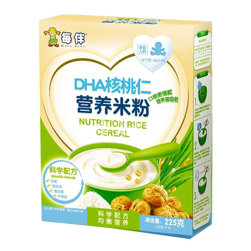 每伴DHA核桃仁营养米粉
